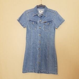 Calvin Klein Vintage Blue Jean Shirt Dress
